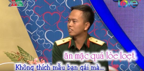Hồng Thái đưa ra những tiêu chí để chọn người yêu. (Nguồn: Cắt từ video)