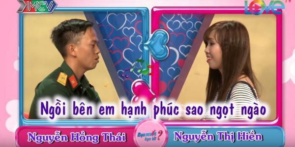 Hồng Thái hát tặng Nguyễn Hiền một vài câu hát thay cho lời tỏ tình. (Nguồn: Cắt từ video)