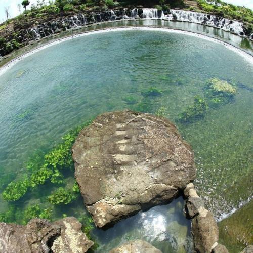 Nước trong vắt thấy rõ cả đáy