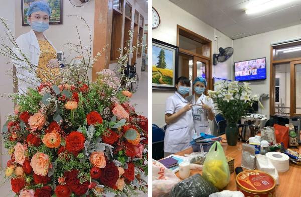 Bác sĩ Hương cùng đồng nghiệp lạc quan dù đang ở trong vùng tâm dịch.