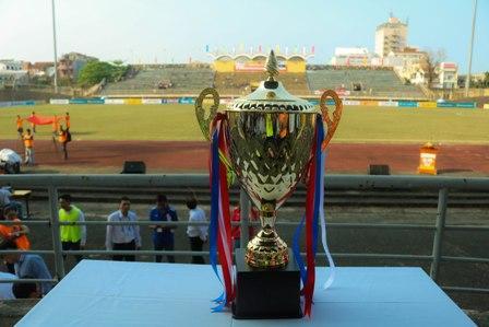 Chiếc Cup cô địch giải U19 Quốc gia 2018.