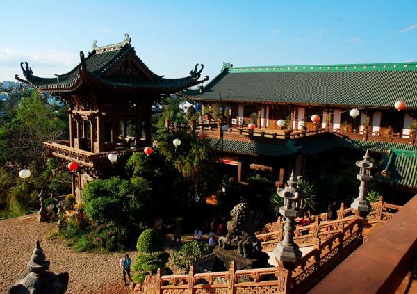 Kiến trúc độc đáo ở chùa Minh Thành. (Nguồn: Sưu tầm)