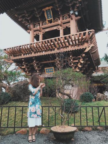 Lối kiến trúc của chùa Minh Thành rất giống với những ngôi chùa ở Nhật Bản. (Nguồn: FB Nguyễn Vũ Ngọc Minh)