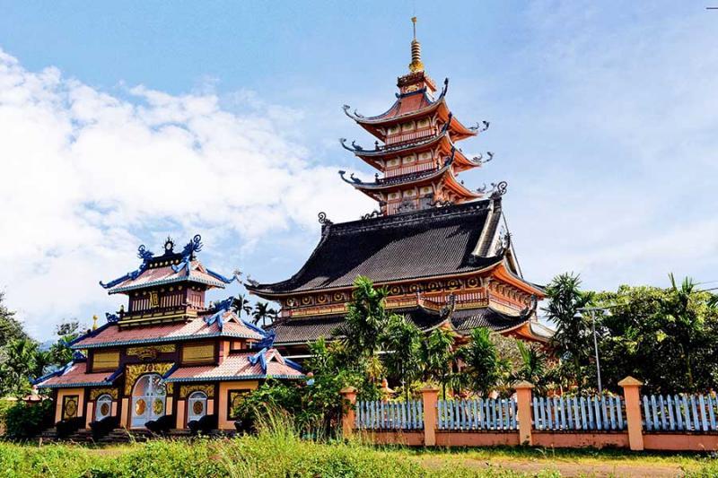 Chùa Bửu Minh (xã Nghĩa Hưng, huyện Chư Pah). Ảnh: V.TT