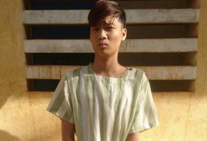 Đối tượng Lê Thanh Bảo tại cơ quan điều tra.