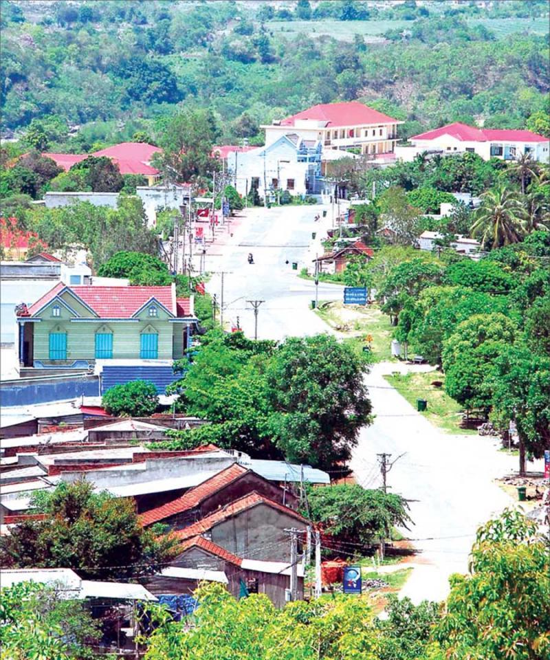 Một góc thị trấn Kông Chro.