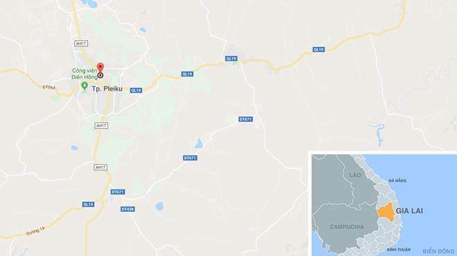 Vụ án xảy ra trên đường Nguyễn Tất Thành, Tp. Pleiku, Gia Lai. Ảnh: Google Maps.
