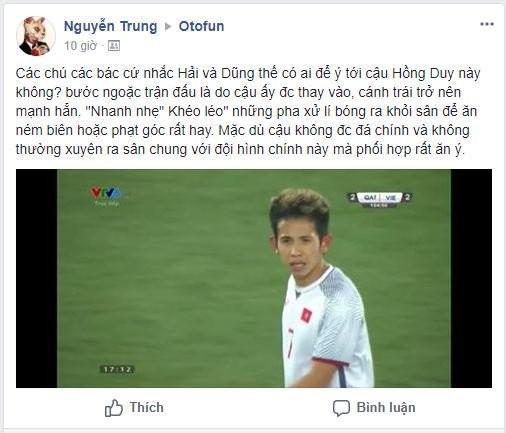 Fan hâm mộ bóng đá Việt cũng hết lời khen ngợi anh chàng.