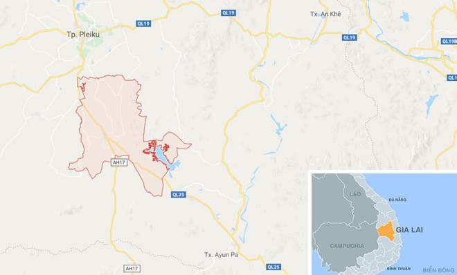 Huyện Chư Suê nơi xảy ra sự việc. Ảnh: Google Maps.