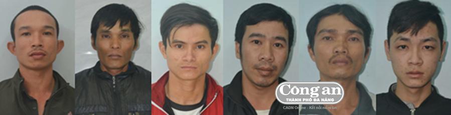 Từ trái qua: Phạm Văn Quốc, Bông, Linh, Thành, Trần Thanh Quốc, Tuấn.