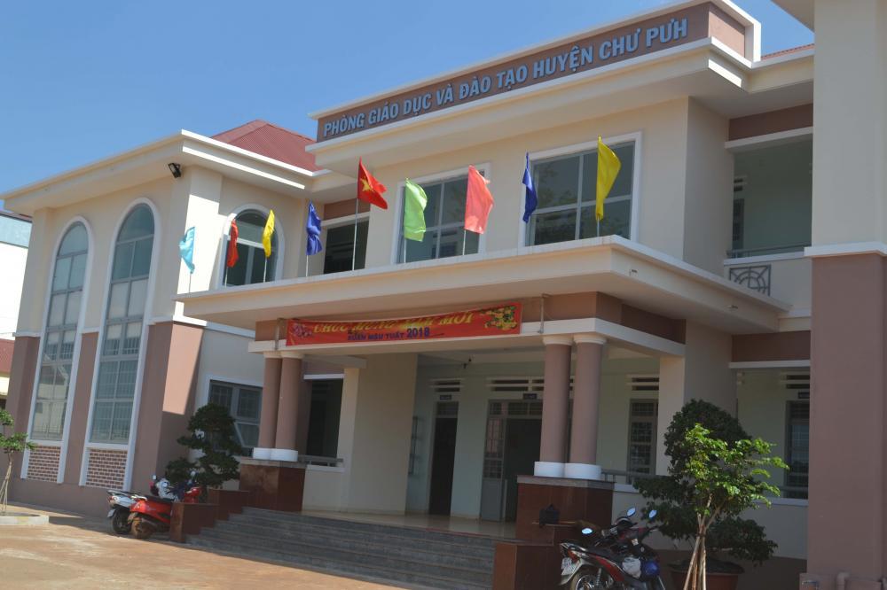 Trụ sở phòng Giáo dục và Đào tạo huyện Chư Pưh. Ảnh: H.C