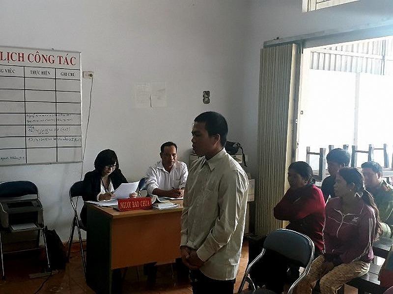Bị cáo Siu Khiêm tại phiên tòa sơ thẩm