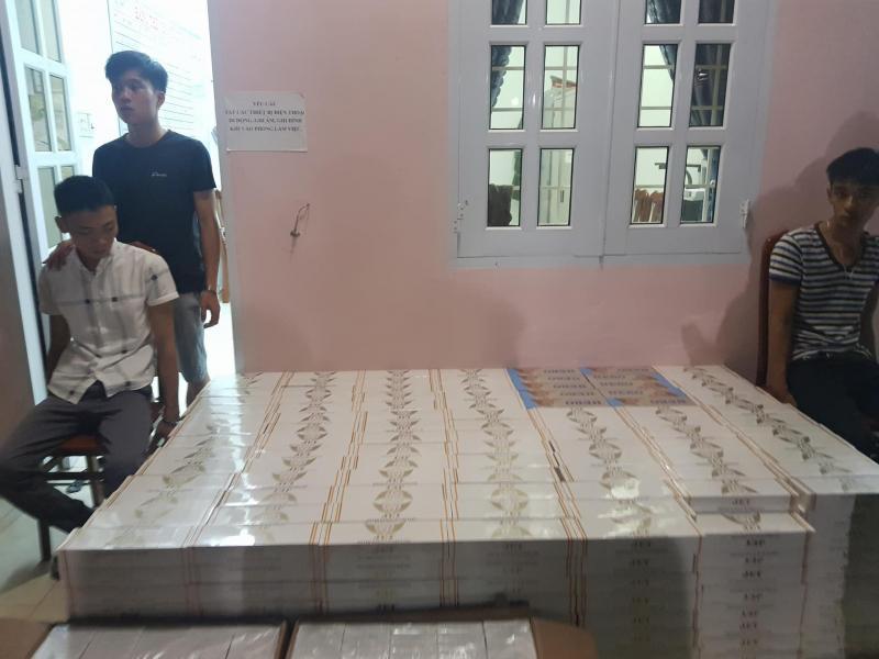 Số tang vật thuôc lạ lậu được Đội CSGT, Phòng CSGT Bình Định kịp thời bắt giữ. Ảnh CSGT