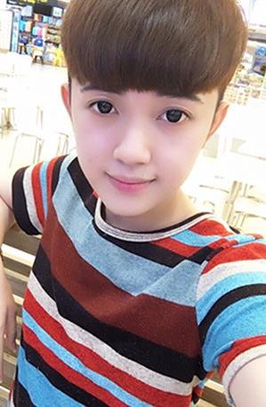 Gương mặt thanh tú của Hương Giang khi chưa phẫu thuật chuyển giới.