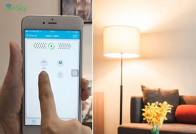 Công tắc Solari 1 kênh có thể điều khiển độ sáng của đèn (Dim đèn)