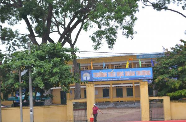 Trường tiểu học xã Đoàn Thượng, nơi xảy ra sự việc đau lòng. Ảnh: Đ.Tuỳ