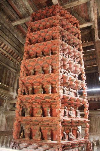 Cửu phẩm liên hoa ở chùa Giám. (Nguồn: camgiang.haiduong.gov.vn)