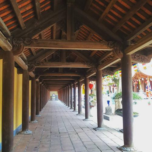 Hành lang quanh chùa. (Nguồn: conghoang102)