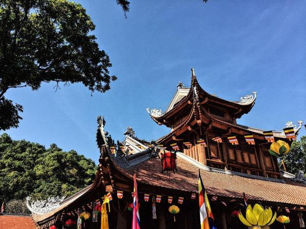 Kiến trúc cổ thường thấy ở các ngôi đình chùa Bắc Bộ. (Nguồn: nhattruongg)
