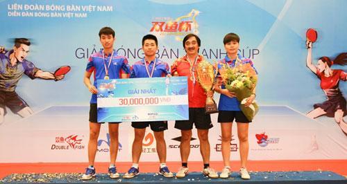 Đội Hải Dương nhận chức vô địch.