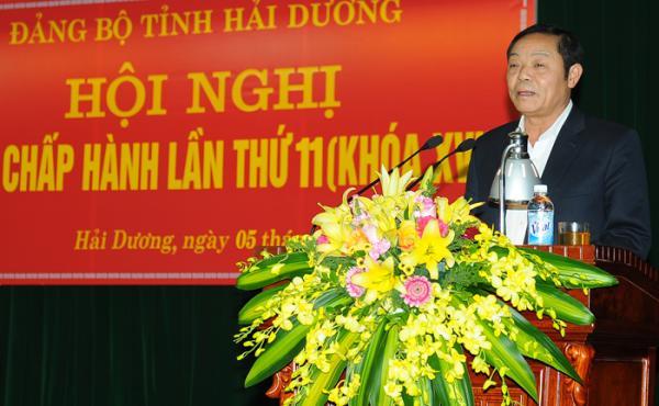 Bí thư Huyện ủy Gia Lộc Phạm Quang Hưởng. Ảnh: Thành Chung