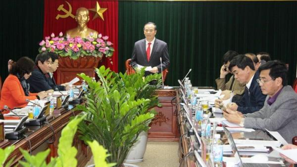 Đồng Chí Nguyễn Mạnh Hiển, Ủy viên Trung ương Đảng, Bí thư Tỉnh ủy, Chủ tịch HĐND tỉnh chủ trì cuộc họp