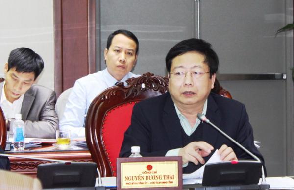 Đồng chí Nguyễn Dương Thái, Phó Bí thư Tỉnh ủy, Chủ tịch UBND tỉnh, Trưởng Đoàn Đại biểu Quốc hội yêu cầu thành phố đẩy mạnh các dự án chỉnh trang đô thị