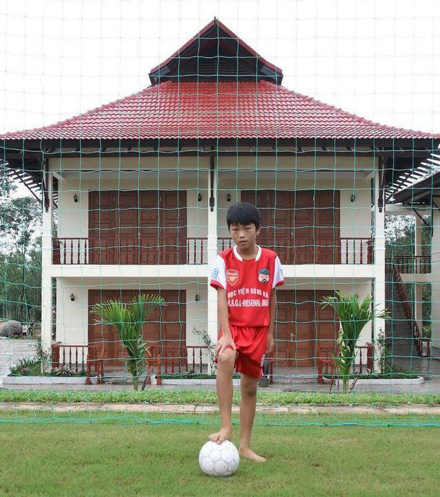 Xuân Trường khi ở trong Học viện bóng đá của Hoàng Anh Gia Lai
