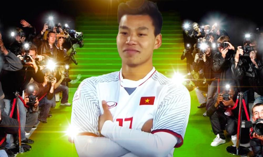 Dáng đứng đã đi vào huyền thoại bóng đá Việt.