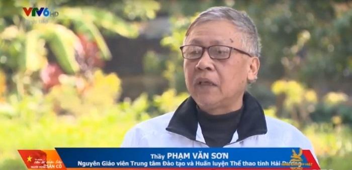 Thầy Phạm Văn Sơn, người từng dẫn dắt nhóm các cầu thủ U23 quê Hải Dương từ khi còn nhỏ