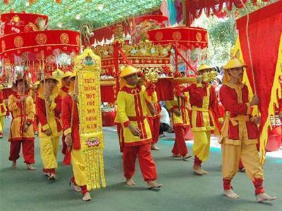 Lễ hội chùa Muống diễn ra từ ngày 24 - 27 tháng Giêng hàng năm. (Ảnh: giacngo.vn)