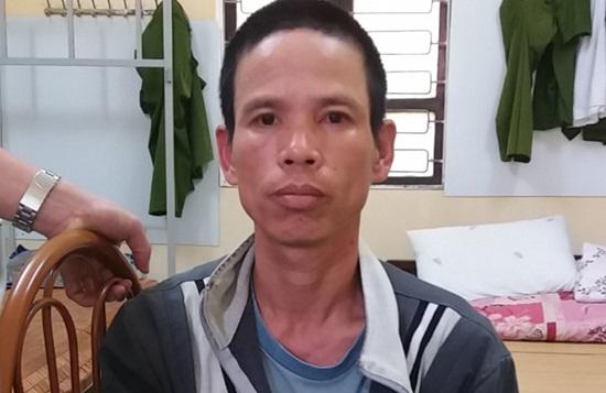Ngô Xuân Tráng tại cơ quan công an. Ảnh: Báo Công lý.
