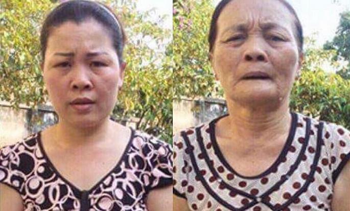 Hai mẹ con bà Miền bị bắt quả tang khi đang tàng trữ tiền giả