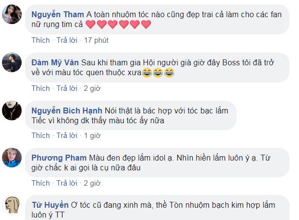 Một số bình luận đáng yêu của NHM dành cho Văn Toàn.