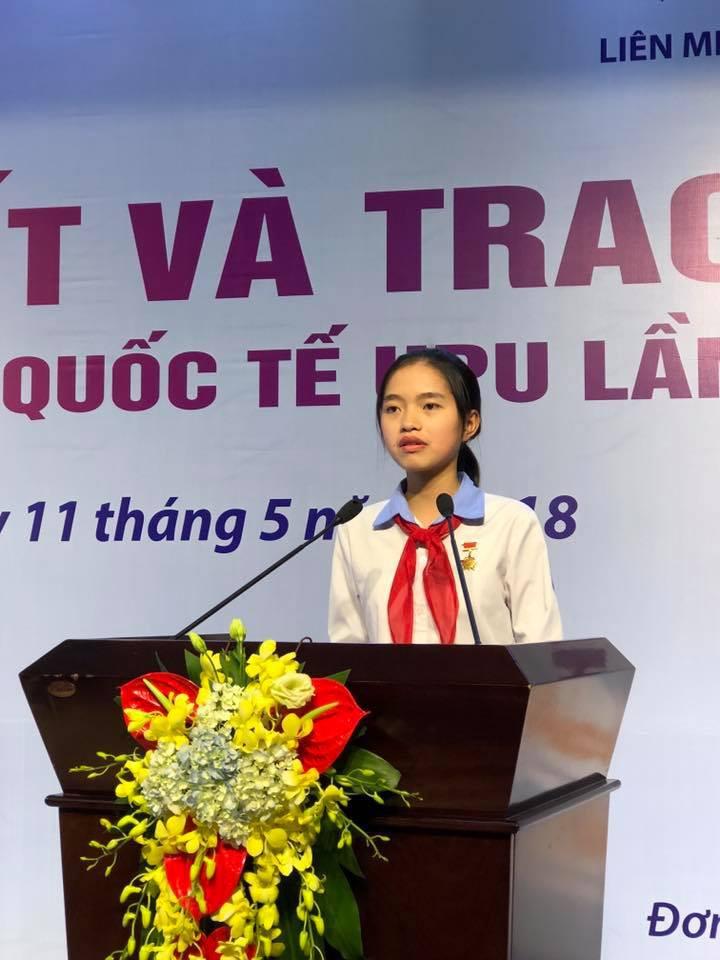 Ngày 11/5, Ban tổ chức cuộc thi viết thư quốc tế UPU lần thứ 47 tại Việt Nam đã trao giải nhất cho Bạch Dương và gửi bức thư này tham gia quốc tế.