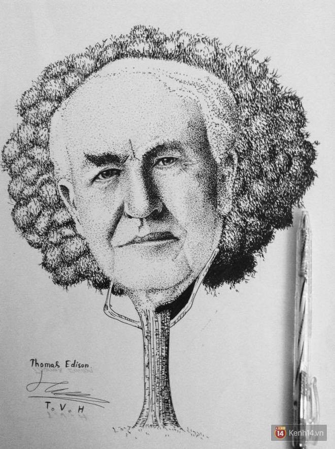 Tuy không dùng số hay công thức nào cả nhưng bức hình Edison này khiến ai cũng phải bật cười