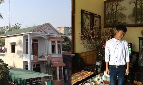 Có thể thấy, ngôi nhà mà bố mẹ Xuân Trường đang sống ở quê rất khang trang