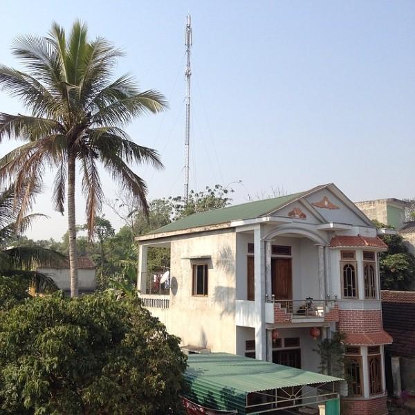 Ngôi nhà mà bố mẹ Xuân Trường đang sống ở Tuyên Quang khá khang trang