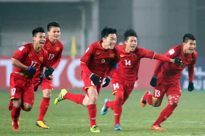 Đội tuyển U23 Việt Nam đang viết nên câu chuyện thần kỳ ở VCK U23 châu Á 2018. Ảnh: Hữu Phạm