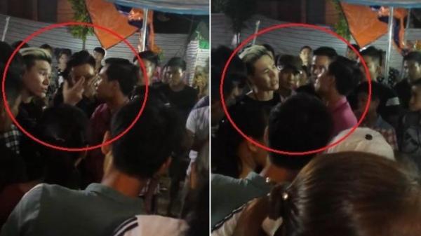CHâu Việt Cường đánh nhau với một người dân khi đi hát tại hội chợ.