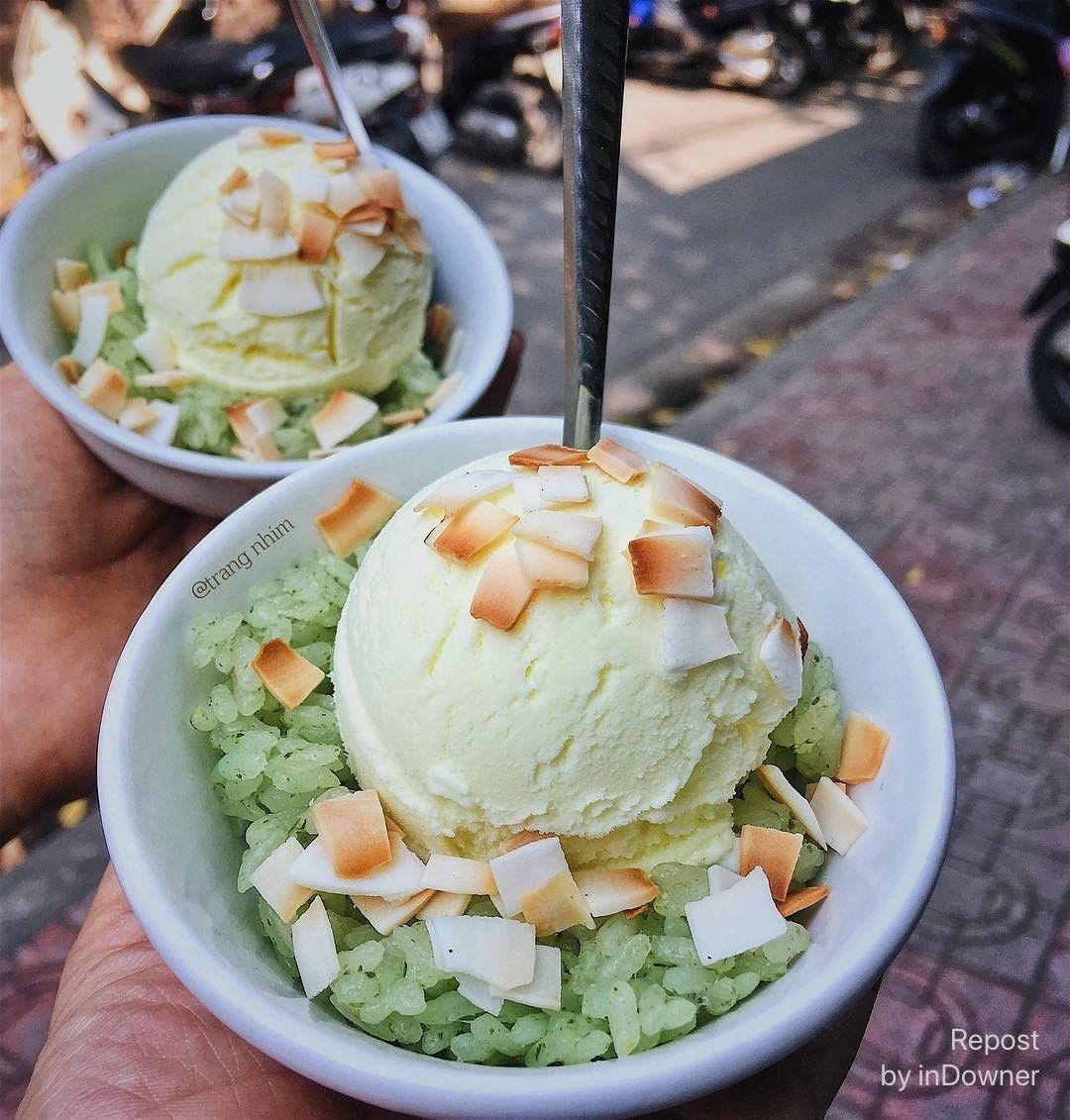 Món kem xôi lạ miệng trên phố Kim Mã. (Ảnh: streetfood)