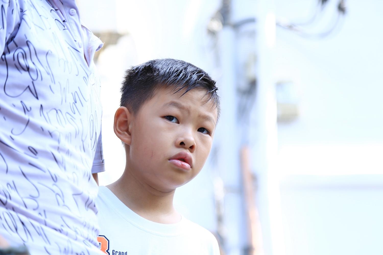 Khi kể về ba, bé Đạt nói lớn lên cũng sẽ làm