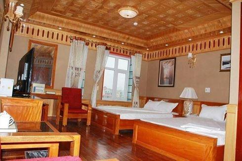 Nội thất bên trong phòng nghỉ chủ yếu làm bằng gỗ (ảnh: TL)