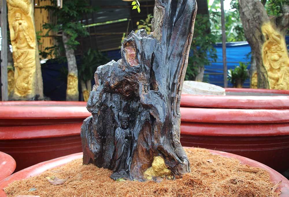 Tượng Phật Di Lặc cưỡng rồng hiện hình trên cây khế già có giá 60 triệu đồng