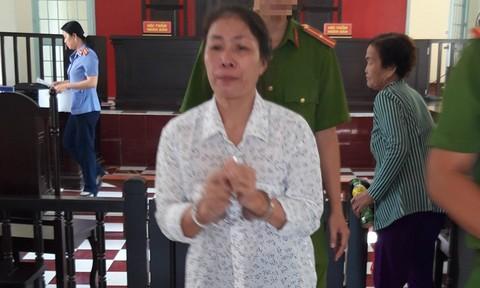 Bị cáo Dương Thúy Kiều tại tòa án