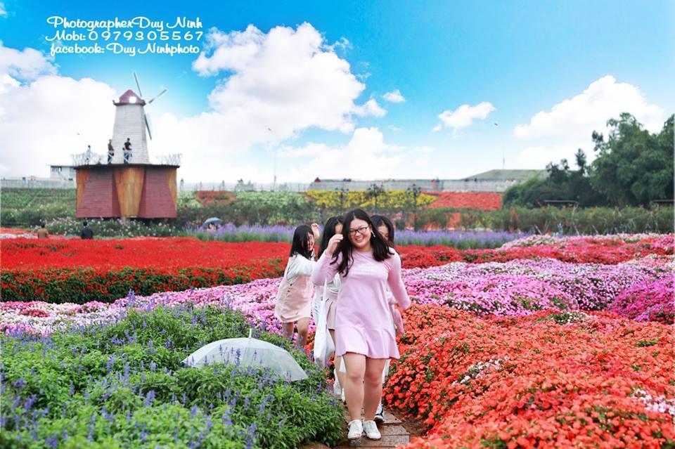 """Ngay gần Bắc Ninh, đẹp phát hờn thung lũng hoa """"lạ mà quen"""