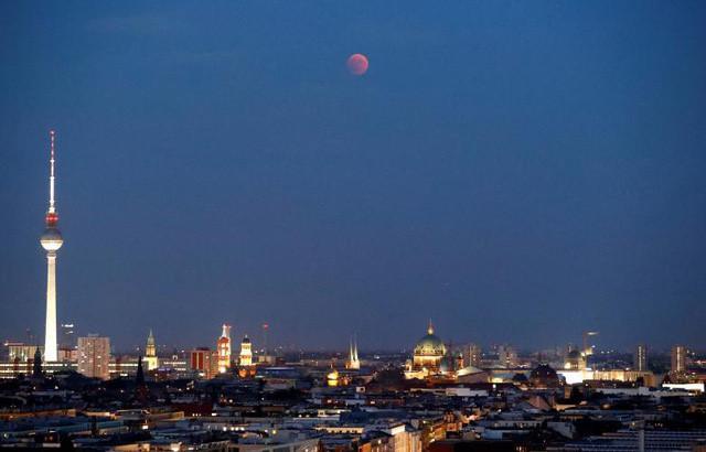 Hình ảnh nhìn từ thủ đô Berlin, Đức.