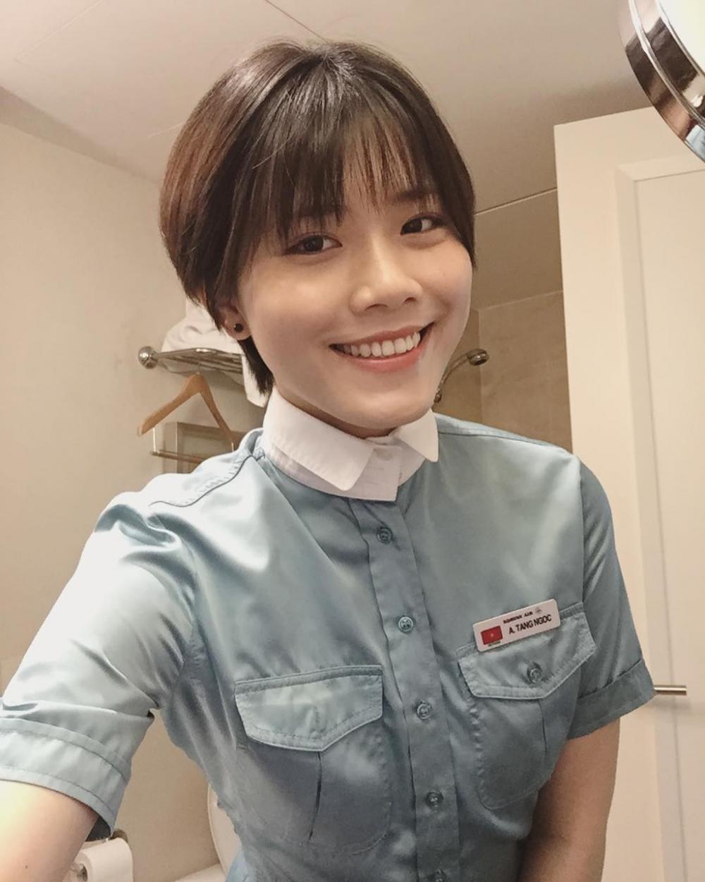 Ngọc Anh làm tiếp viên hàng không cho hãng Korean Air đến nay được 5 năm.