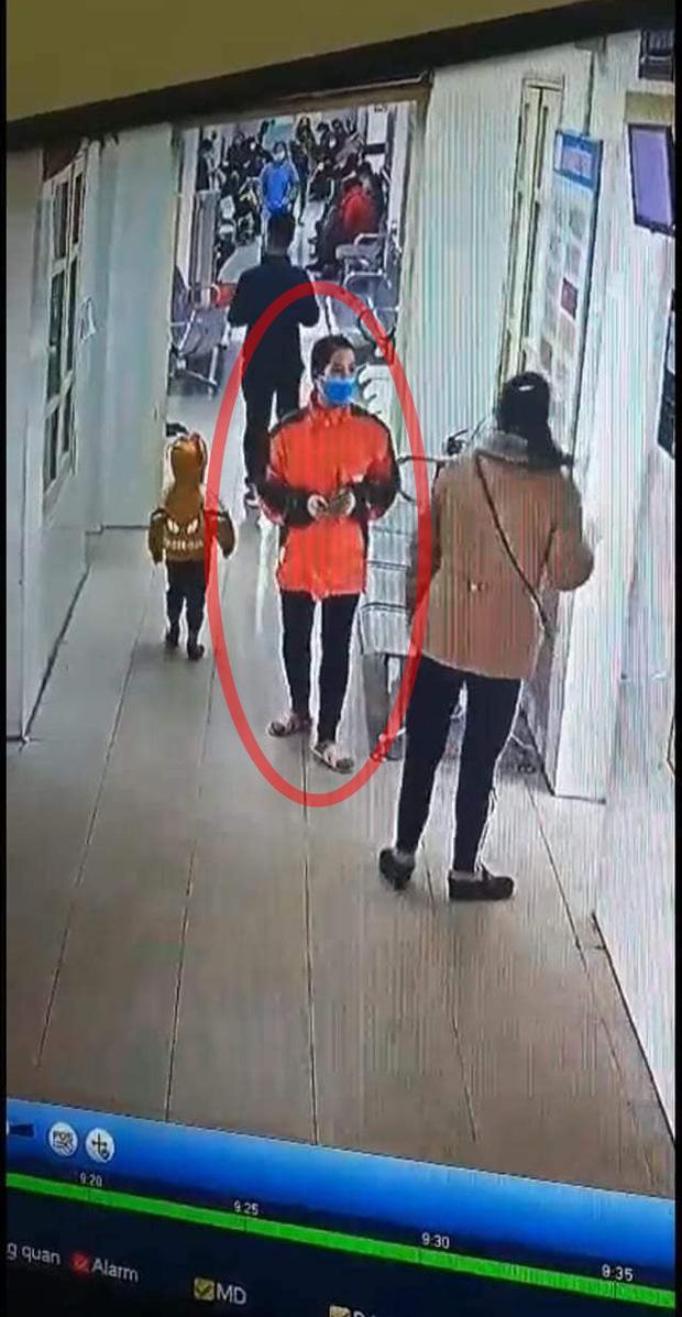 Hình ảnh Thảo trong camera an ninh tại bệnh viện và mất tích sau đó (Ảnh NVCC)