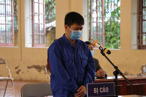 Bị cáo Lê Quang Huy tại phiên tòa.